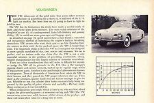 1956 VOLKSWAGEN KARMANN-GHIA VW  ~  RARE ORIGINAL NEW CAR PREVIEW ARTICLE / AD