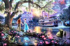 Thomas Kinkade Princess and the Frog 18x27 G/P Limited Edition Disney Lithograph