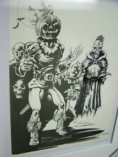 Kevin Siembieda print 11  - Fiendish Beings, with original illustration, signed