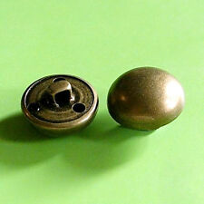 15 Brass Metal Dome Half Ball Shank Military Patriotic Sew on Buttons 20mm G123