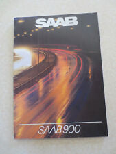 1983 Saab 900 and 900 Turbo automobile advertising booklet