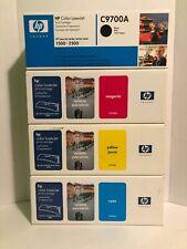 4 Genuine HP Color LaserJet 1500 2500N Printer TONER C9700A C9701A C9702A C9703A