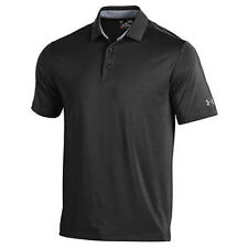 UNDER ARMOUR GOLF MEN'S PERFORMANCE PLAYOFF POLO SHIRT BLACK SIZE: M NEW!! 18468