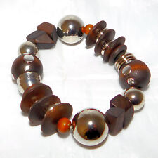 New Wood and Metal Stretch Bracelet in Gift Box from JCP