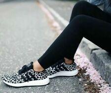 NEW Womens Adidas Swift Run Athletic Shoe Cheetah Leopard Carbon White Black 8.5