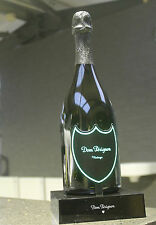 DOM PERIGNON CHAMPAGNE LED LUMINOUS ILLUMINATED DISPLAY BOTTLE STAND 70CL GREEN