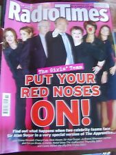 VINTAGE RADIO TIMES - MARCH 2007 RED NOSE SPECIAL COVER 1 ALAN SUGAR CHERYL COLE