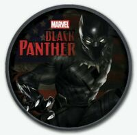 2018 Tuvalu MARVEL BLACK PANTHER Colorized Ruthenium 1oz .999 Silver Coin