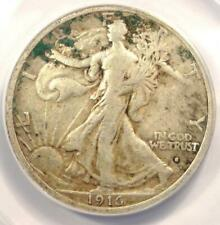 1916-S Walking Liberty Half Dollar 50C - ANACS VF20 Details - Rare Date Coin!