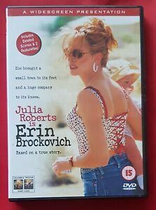Erin Brockovich (DVD) Julia Roberts .Like New, Region 2