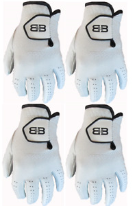 4 Back to Back Players 100% Cabretta Leather Golf Gloves 5 Sizes Mens Gents