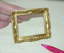Miniature Elegant Gold Resin Frame (LARGE) #7: DOLLHOUSE Miniatures 1:12 Scale