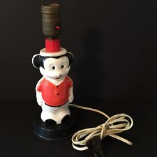 Folk Art Vintage Mickey Mouse Lamp Made From a Bath Soap Bottle Works No Shade