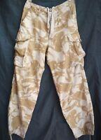 True  British Army Combat Trousers Pants Desert Tropical Camo  Size:XS  75/72/88