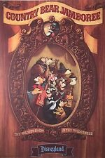 """Disney Parks Attraction Poster 12""""x18"""" Unframed - Country Bear Jamboree"""