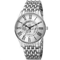 Men's August Steiner CN009SS Quartz Commemorative Coin Dial Bracelet Watch