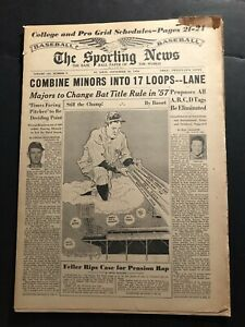 1956 Sporting News NEW YORK Yankees BABE RUTH Still THE CHAMP Ted WILLIAMS