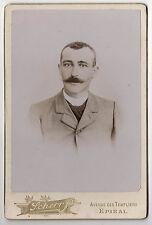 PHOTO - CABINET - Homme Moustaches Costume SCHERR Epinal - Vintage - Vers 1900.