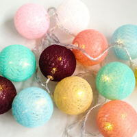 3M 20LED Cotton Ball String Fairy Light Luminous Christmas Party WeddingDecor