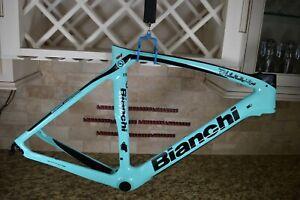 Bianchi Oltre XR4 Size 53 cm Rim Brake Carbon Road Frameset Black Celeste Frame