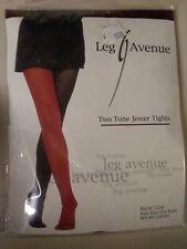 Leg Avenue 2-Tone jester tights black and white one size