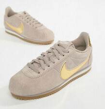 Nike Taupe Cortez Suede Gold Tick Size 5