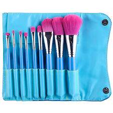 MSQ Professional 9PCs Makeup Brushes Set Powder Cosmetic Tool Synthetic Bag Blue