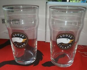 Goose Island Beer Company Pint 16Oz  Glass CHICAGO 1988 Set Of 2 NEW!!