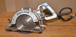 Vintage Skil saw model 77 all metal heavy duty carpenters framing tool wood saw