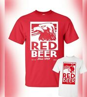 Archer T-Shirt Red Beer Logo Pam Poovey Vice FX TV Show - Glengoolie