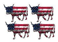 Longhorn Cow Bull Skull Decal Sticker Car Truck Motorcycle Window Ipad Laptop Wa