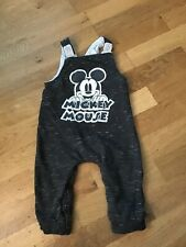 Baby Boy Grey Mickey Mouse Dungarees 6-9 Months