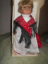 """Lissi Batz Doll Gretchen Made in West Germany 1990 Original Outfit and Shoes 17"""""""