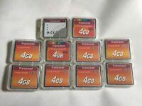 Lot of 10pcs 4gb Transcend Speed 133x Compactflash  memory card CF I NIKON CANON