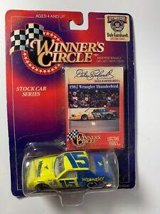 Winners Circle Dale Earnhardt #15 1982 Wrangler Thunderbird 1:64 Scale Car&Card
