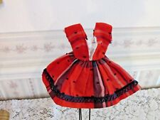 "Cute sleeveless doll dress, 5 1/2"" long, Waist 2 1/4"" side2side, Homemade"