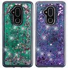 For Alcatel 7 Liquid Glitter Quicksand Hard Case Phone Cover Accessory