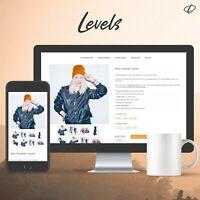 LEVELS ORANGE | Template 2020 RESPONSIVE Auktionsvorlage Ebayvorlage Vorlage TOP