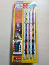 Arlec RGB LED STRIP LIGHT 4Pcs 30cm 12W 36 Colour Changing LEDs*Australian Brand