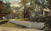 Indianapolis Indiana c1910 Postcard Stone Steps Brookside Park