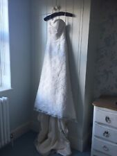 Mori Lee lace and satin wedding dress size 8 with train and sweetheart neckline