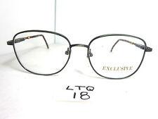 Vtg 80s Exclusive Eyeglass Frame 1012 35 Squared Metal Gray Tortoise (Ltq-18)