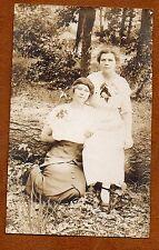 """ 2 Interesting & Strong Women"" ~  1904-1918 AZO RPPC ID on back"