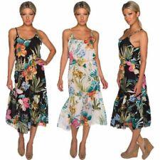 Ärmellose Damenkleider mit Blumen den Sommer