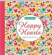Happy Hearts: Pocket Patterns Colouring Book (Paperback) NEW