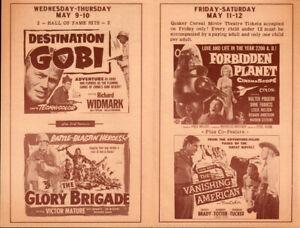 Forbidden Planet  Original State Movie Theater  Herald 1956