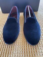 Ralph Lauren PURPLE LABEL Navy Blue Velvet COLLIS P Dress Slippers Loafers 8 NIB