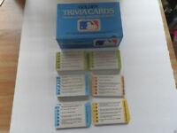 COLLECTIBLE (1984) Game Trivia Cards: Major League Baseball (6 Sets; 3 Sealed