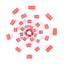 35PC Dip Switch Kit 1 2 3 4 5 6 8Way Toggle Switch Red Snap Switches Each 5x@M
