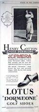 LOTUS Dormeone Golf Shoes 1932 Advert (Golfer HENRY COTTON) - Original Print AD